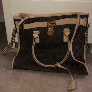MICHAEL KORS BAG BROWN LEATHER